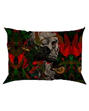 3D PRINT SKULL T-SHIRT Rectangular Pillowcase thumbnail