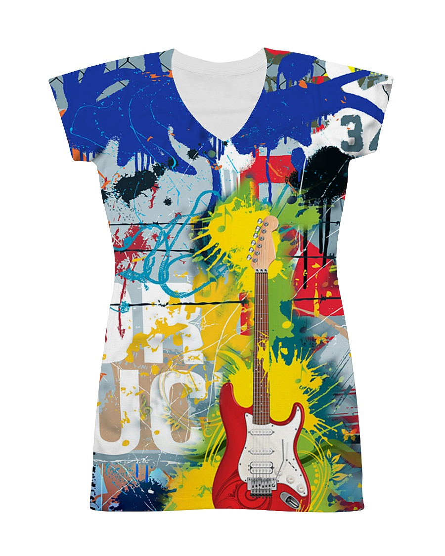 3D PRINT ELECTRIC GUITAR  T-SHIRT All-over Dress