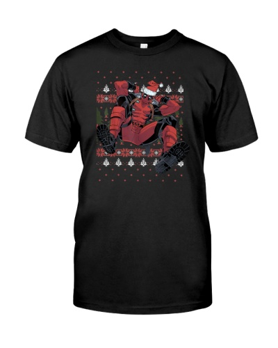 Deadpool Santa Hat Ugly Sweater Christmas