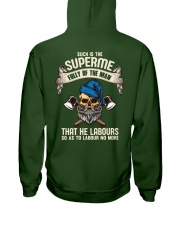 Labours Day  Hooded Sweatshirt back