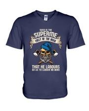 Labours Day  V-Neck T-Shirt thumbnail