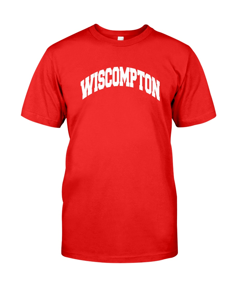Wiscompton Original Wisconsin And Compton Mashup Classic T-Shirt