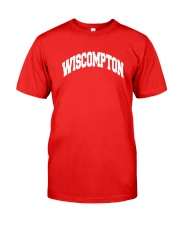 Wiscompton Original Wisconsin And Compton Mashup Classic T-Shirt front