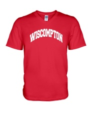 Wiscompton Original Wisconsin And Compton Mashup V-Neck T-Shirt thumbnail