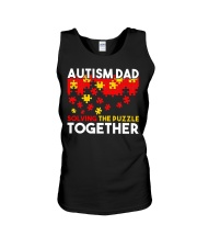Autism Awareness Shirt Autism Dad Solving The Puzz Unisex Tank tile