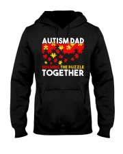 Autism Awareness Shirt Autism Dad Solving The Puzz Hooded Sweatshirt thumbnail
