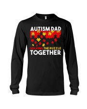 Autism Awareness Shirt Autism Dad Solving The Puzz Long Sleeve Tee tile