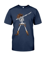 DABBING SKELETON COWBOY HAT HALLOWEEN FUNNY DAB Classic T-Shirt tile