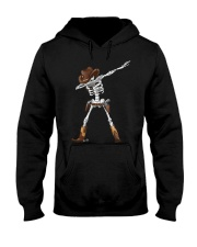 DABBING SKELETON COWBOY HAT HALLOWEEN FUNNY DAB Hooded Sweatshirt thumbnail