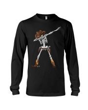 DABBING SKELETON COWBOY HAT HALLOWEEN FUNNY DAB Long Sleeve Tee thumbnail
