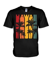 VINTAGE HAWAIIAN T-SHIRT - ALOHA HAWAII V-Neck T-Shirt thumbnail