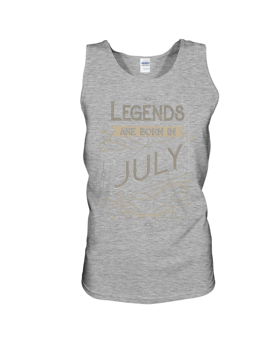 LEGENDS ARE BORN IN JULY T-SHIRT Unisex Tank