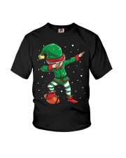 DABBING ELF FOOTBALL DABBING SANTA Youth T-Shirt tile