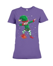 DABBING ELF FOOTBALL DABBING SANTA Premium Fit Ladies Tee thumbnail