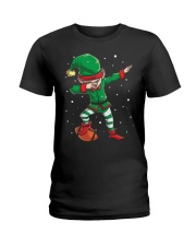 DABBING ELF FOOTBALL DABBING SANTA Ladies T-Shirt tile