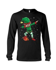 DABBING ELF FOOTBALL DABBING SANTA Long Sleeve Tee thumbnail