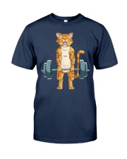 CAT FITNESS GYM LIFTING WEIGHTS Classic T-Shirt tile