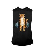CAT FITNESS GYM LIFTING WEIGHTS Sleeveless Tee tile