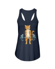 CAT FITNESS GYM LIFTING WEIGHTS Ladies Flowy Tank tile
