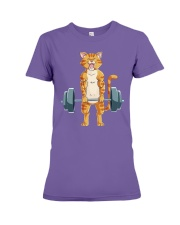 CAT FITNESS GYM LIFTING WEIGHTS Premium Fit Ladies Tee tile
