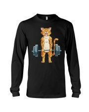 CAT FITNESS GYM LIFTING WEIGHTS Long Sleeve Tee tile