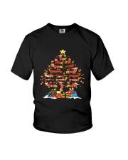 Dachshund  Tree Xmas Youth T-Shirt thumbnail