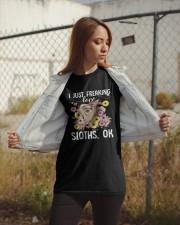 i just freaking love sloth 3 Classic T-Shirt apparel-classic-tshirt-lifestyle-07