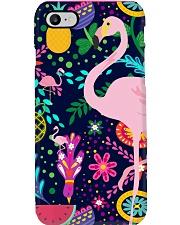 flamingo bird pineapple summer mask   Phone Case thumbnail