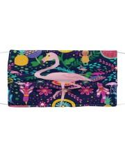 flamingo bird pineapple summer mask   Cloth face mask thumbnail