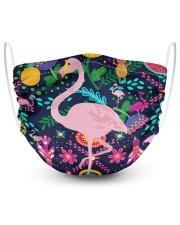 flamingo bird pineapple summer mask   2 Layer Face Mask - Single thumbnail