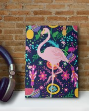 flamingo bird pineapple summer mask   8x10 Easel-Back Gallery Wrapped Canvas aos-easel-back-canvas-pgw-8x10-lifestyle-front-14