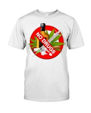 drugs are bad shirt Classic T-Shirt tile