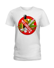 drugs are bad shirt Ladies T-Shirt tile