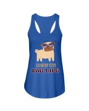 usa Living the pug life shirt Ladies Flowy Tank front
