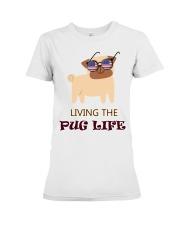 usa Living the pug life shirt Premium Fit Ladies Tee thumbnail