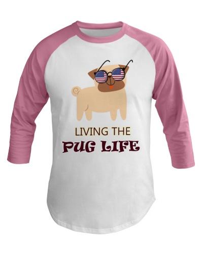 usa Living the pug life shirt