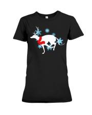 Christmas Greyhound Premium Fit Ladies Tee thumbnail