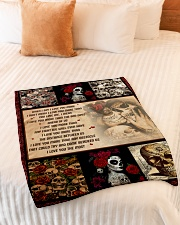 """Gift For Skull Lover - When I Say I Love You More Small Fleece Blanket - 30"""" x 40"""" aos-coral-fleece-blanket-30x40-lifestyle-front-01"""