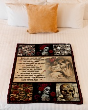 """Gift For Skull Lover - When I Say I Love You More Small Fleece Blanket - 30"""" x 40"""" aos-coral-fleece-blanket-30x40-lifestyle-front-04"""