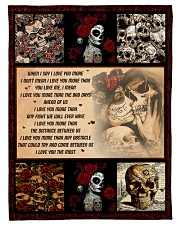 """Gift For Skull Lover - When I Say I Love You More Small Fleece Blanket - 30"""" x 40"""" front"""