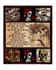 """Gift For Skull Lover - When I Say I Love You More Quilt 50""""x60"""" - Throw thumbnail"""