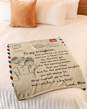 """Gift For Daughter - To My Daughter Air Mail Small Fleece Blanket - 30"""" x 40"""" aos-coral-fleece-blanket-30x40-lifestyle-front-01"""