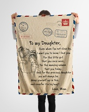 """Gift For Daughter - To My Daughter Air Mail Small Fleece Blanket - 30"""" x 40"""" aos-coral-fleece-blanket-30x40-lifestyle-front-14"""