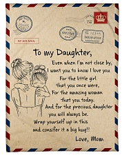 """Gift For Daughter - To My Daughter Air Mail Small Fleece Blanket - 30"""" x 40"""" front"""