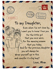 Gift For Daughter - To My Daughter Air Mail Fleece Blanket tile