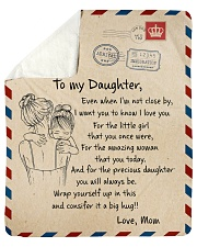 """Gift For Daughter - To My Daughter Air Mail Sherpa Fleece Blanket - 50"""" x 60"""" thumbnail"""