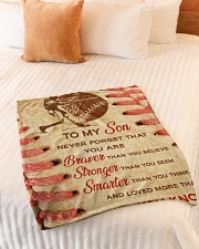 "Gift For Son - To My Son Baseball Small Fleece Blanket - 30"" x 40"" aos-coral-fleece-blanket-30x40-lifestyle-front-01"
