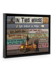 In This House We Believe In Magic 14x11 Black Floating Framed Canvas Prints thumbnail