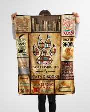 """Easily Distracted By Cats And Books Small Fleece Blanket - 30"""" x 40"""" aos-coral-fleece-blanket-30x40-lifestyle-front-14"""
