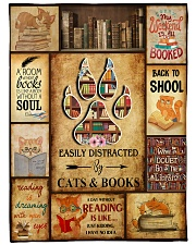 Easily Distracted By Cats And Books Fleece Blanket tile
